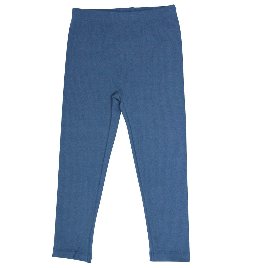 Leggings - China Blue Ribbed - Sweet Bamboo