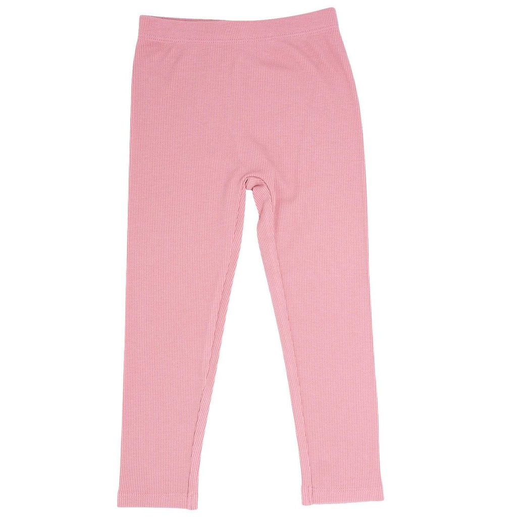 Leggings - Dusty Pink Ribbed - Sweet Bamboo