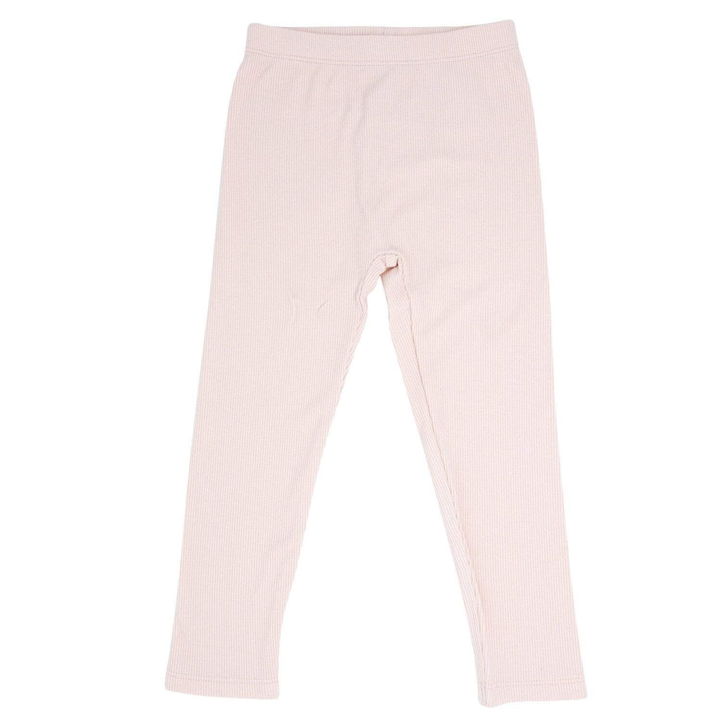 Leggings - Pink Blush Ribbed - Sweet Bamboo