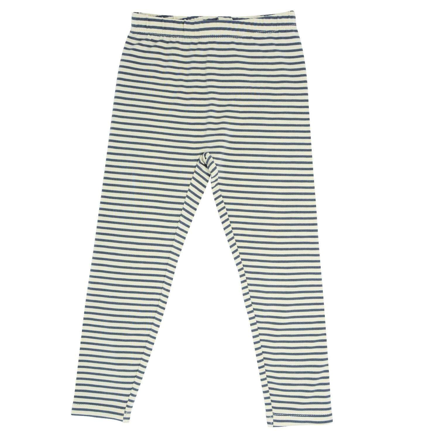 Leggings - Sand with Black Mini Stripe - Sweet Bamboo