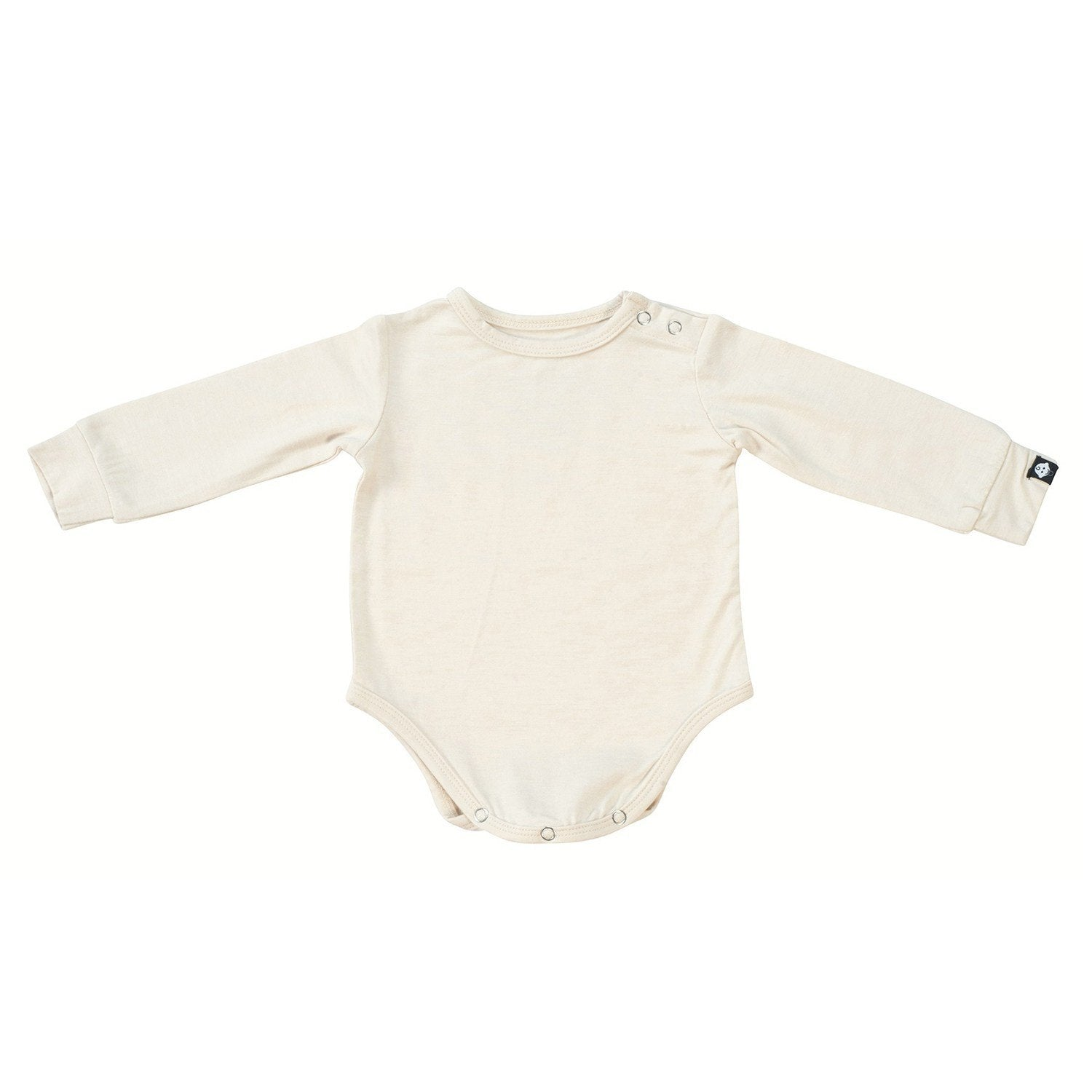 L/S Bodysuit - Cream Heather - Sweet Bamboo