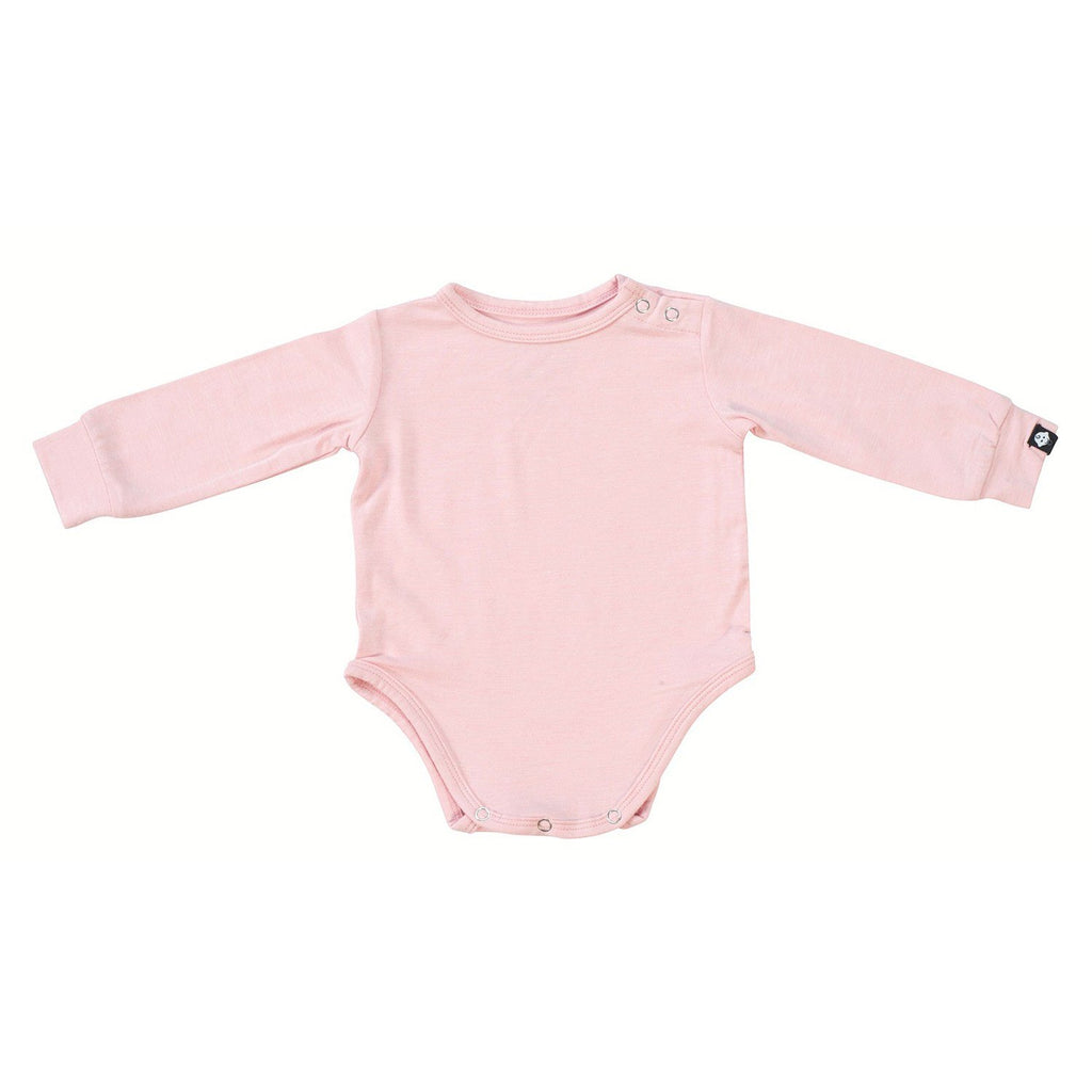 L/S Bodysuit - Pink Heather - Sweet Bamboo