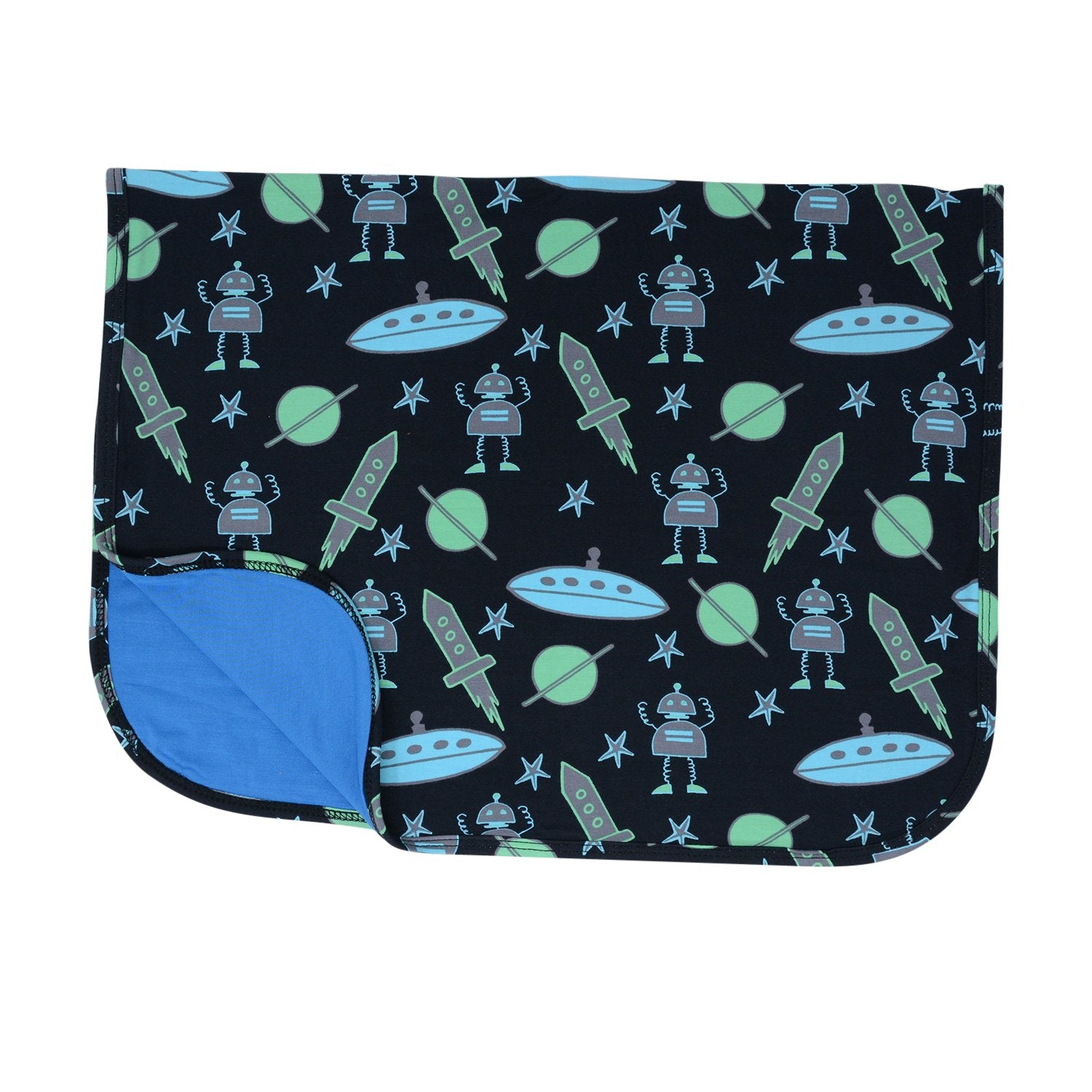 Burping Cloth  - Robot Black - Sweet Bamboo