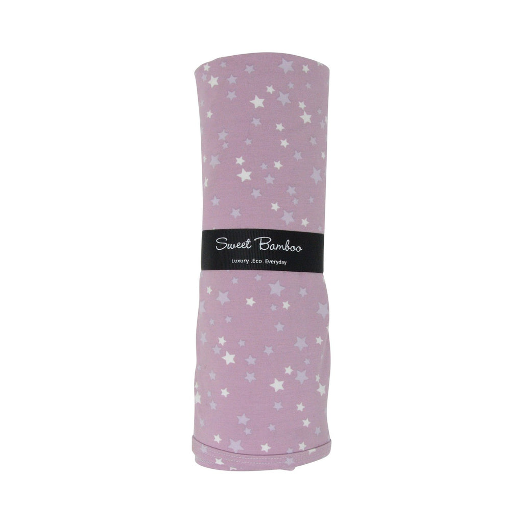 Oversized Swaddle - Stars Purple - Sweet Bamboo