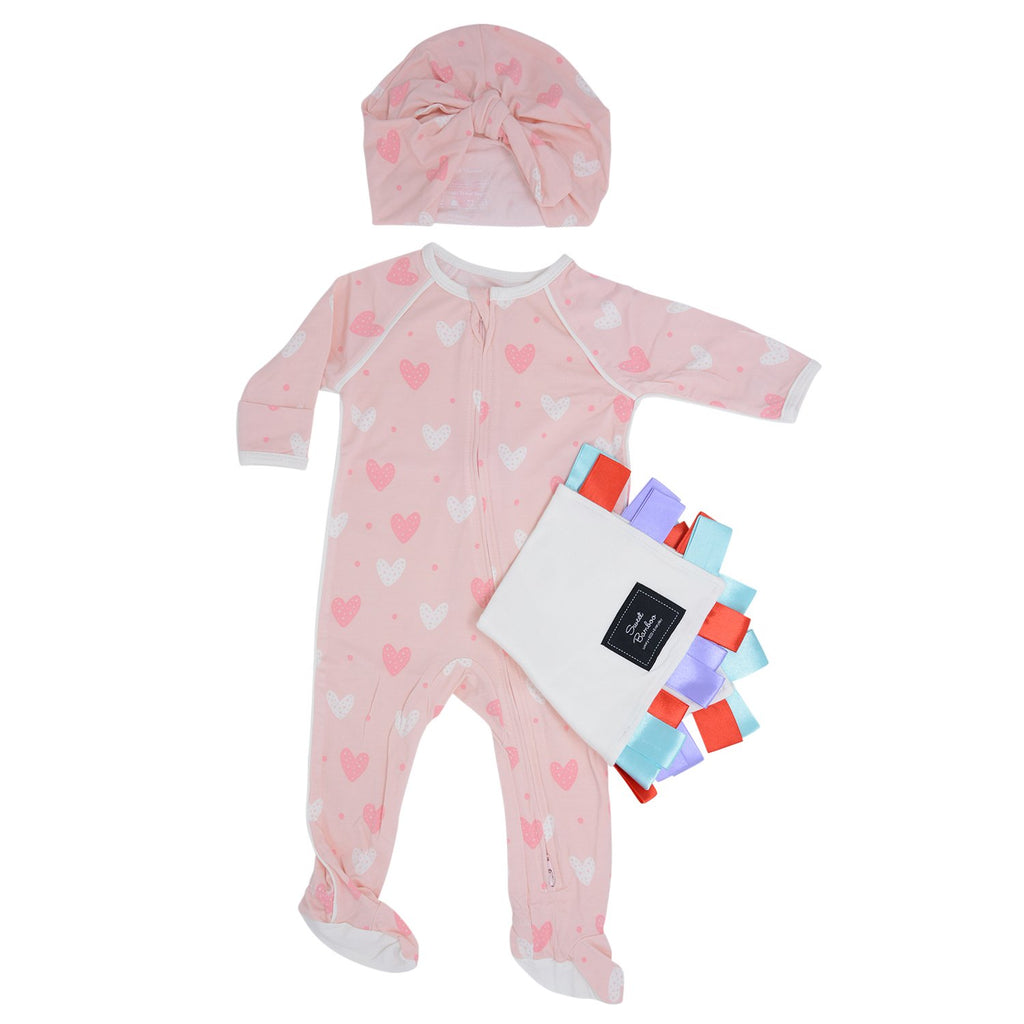 Pink Hearts Bundle with Lovie - Sweet Bamboo