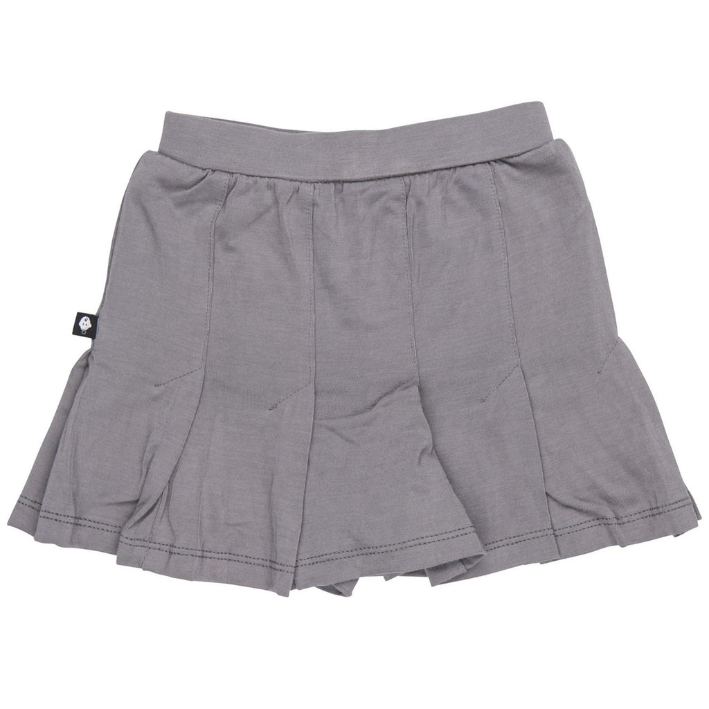 Pleated Skirt - Charcoal - Sweet Bamboo