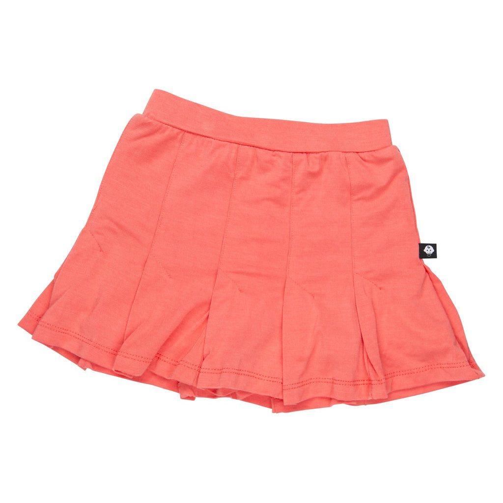 Pleated Skirt - Deep Sea Coral - Sweet Bamboo