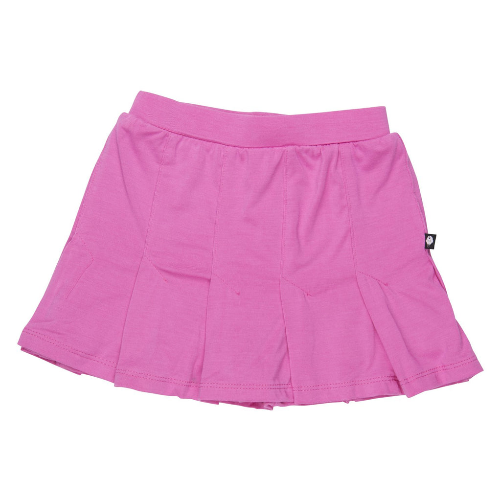 Pleated Skirt - Pink Phlox - Sweet Bamboo