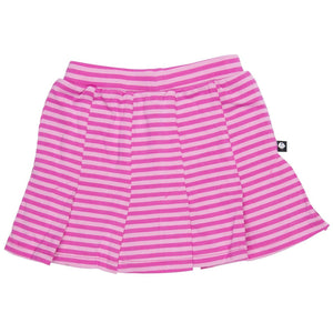 Pleated Skirt - Pink Stripe - Sweet Bamboo