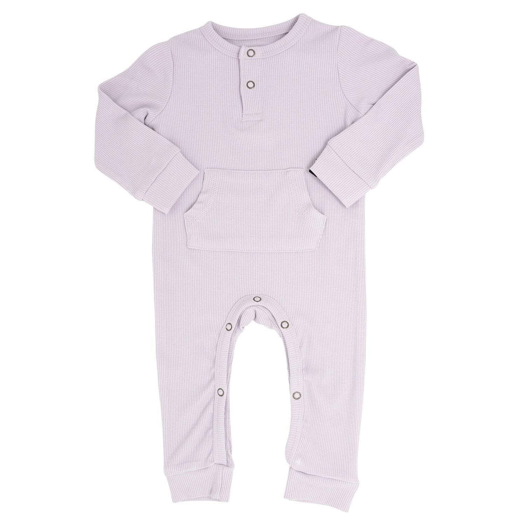 Pocket Romper - Orchid Hush Ribbed Ribbed - Sweet Bamboo