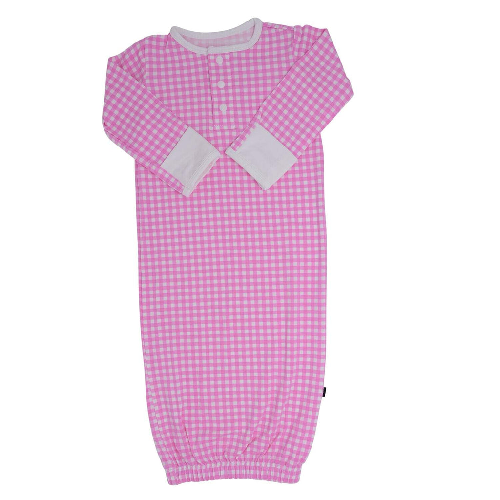 Receiving Gown - Pink Gingham - Sweet Bamboo