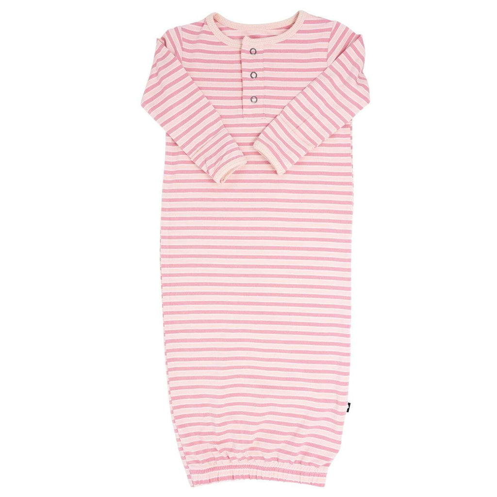 Receiving Gown - Pink Stripe - Sweet Bamboo