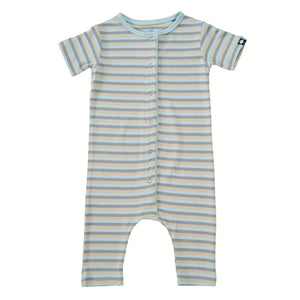 Shortie - Blue 3 Color Stripe - Sweet Bamboo