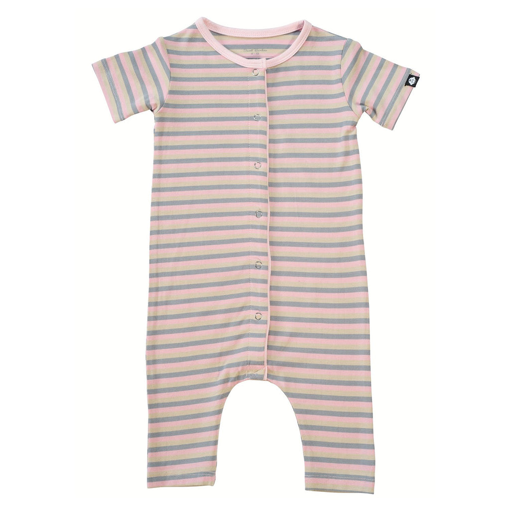 Shortie - Pink 3 Color Stripe - Sweet Bamboo