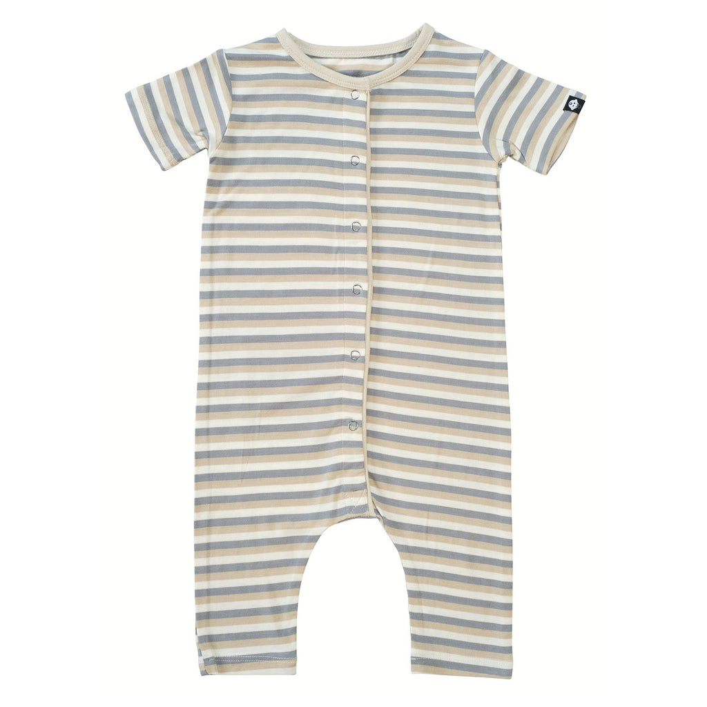 Shortie -White 3 Color Stripe - Sweet Bamboo