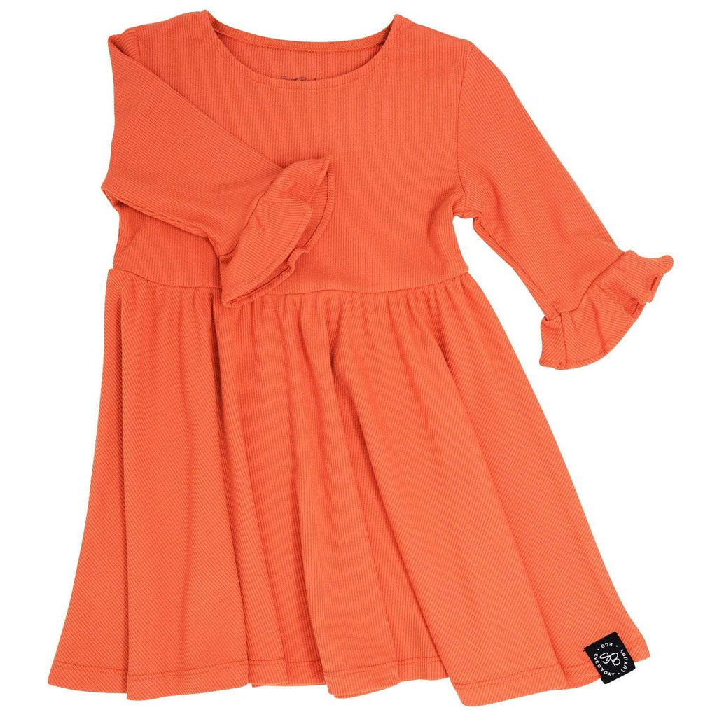Southern Sweetheart Dress - Apricot Ribbed - Sweet Bamboo