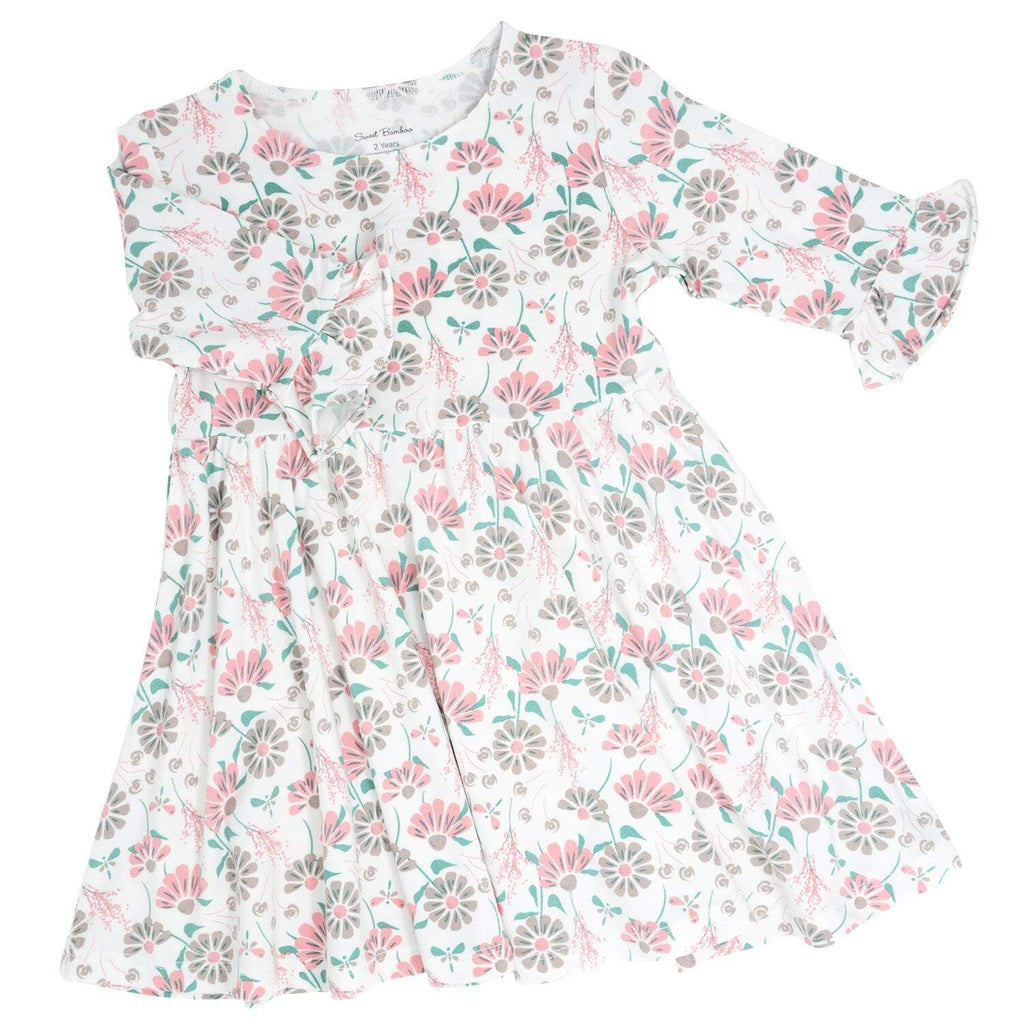 Southern Sweetheart Dress - Retro Flower - Sweet Bamboo