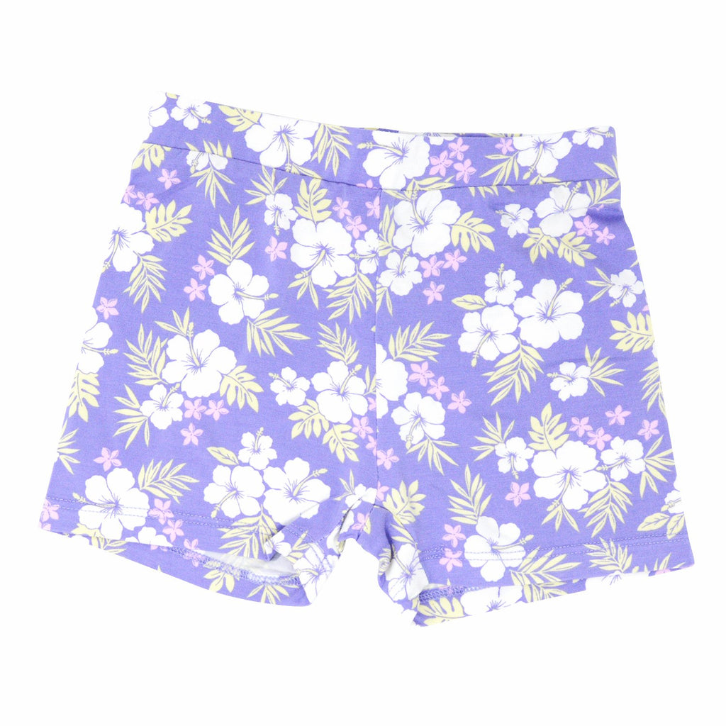 Sport Shorts - Purple Hibiscus Bottoms sweetbambooclothing