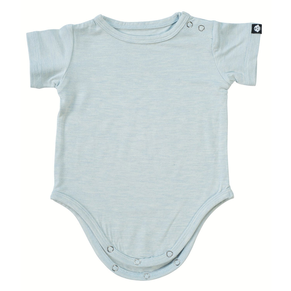 S/S Bodysuit - Blue Heather - Sweet Bamboo