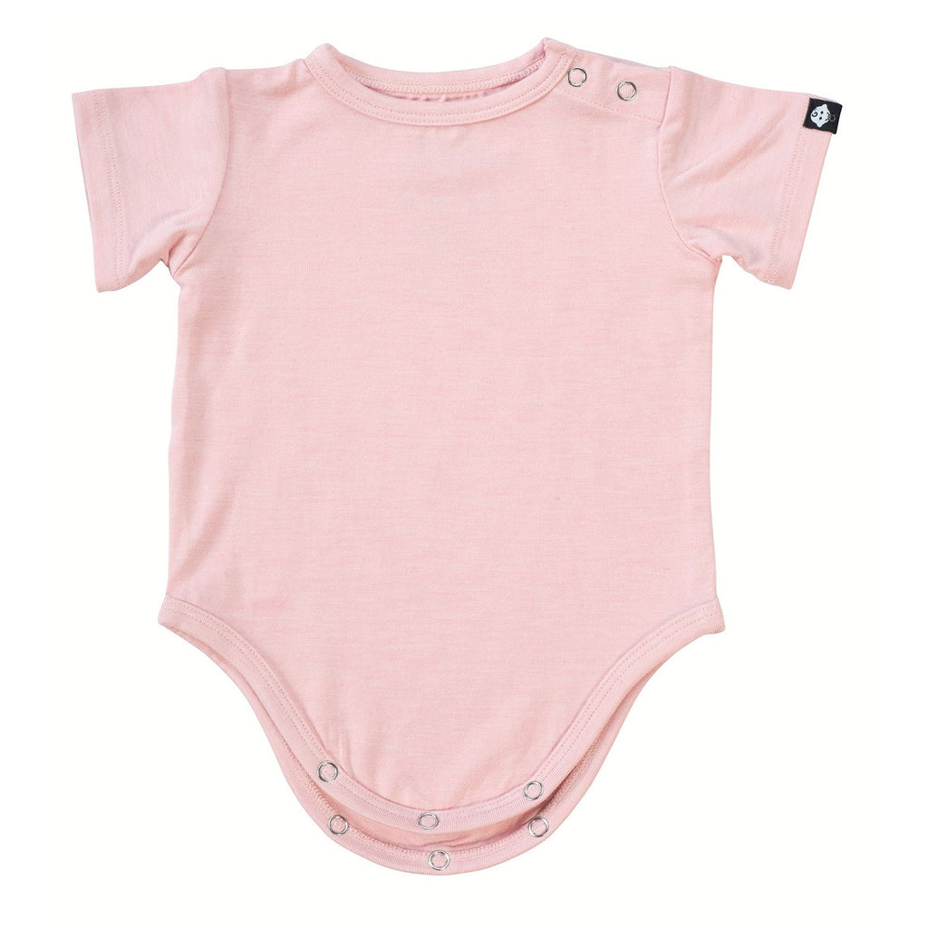 S/S Bodysuit - Pink Heather - Sweet Bamboo
