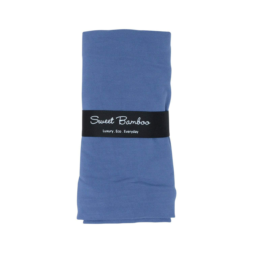 Classic Swaddle -Bijou Blue Solid - Sweet Bamboo