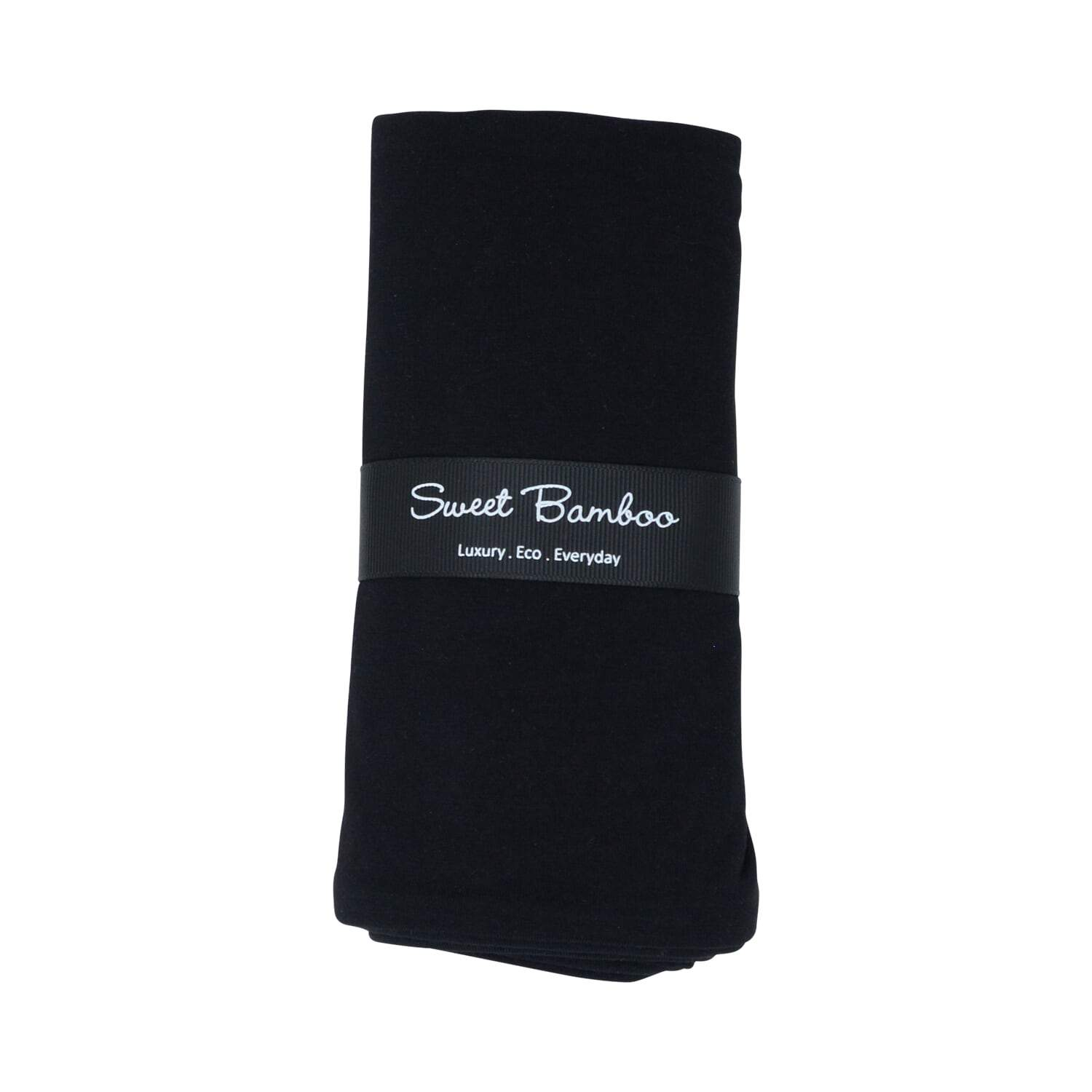 Swaddle -Black Solid - Sweet Bamboo