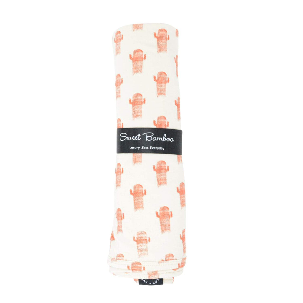 Oversized Swaddle - Cactus - Sweet Bamboo