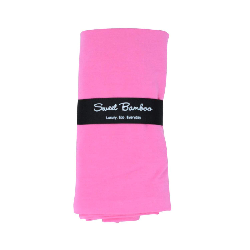 Classic Swaddle -Pink Rose Solid - Sweet Bamboo