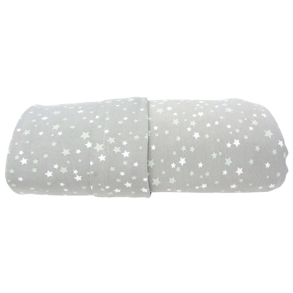 Twin Sheet Set (Fitted + 1 Pillow Cases) - Stars Green - Sweet Bamboo