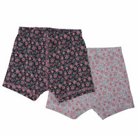 Underwear Brief Set - Flower Pink/Charcoal - Sweet Bamboo