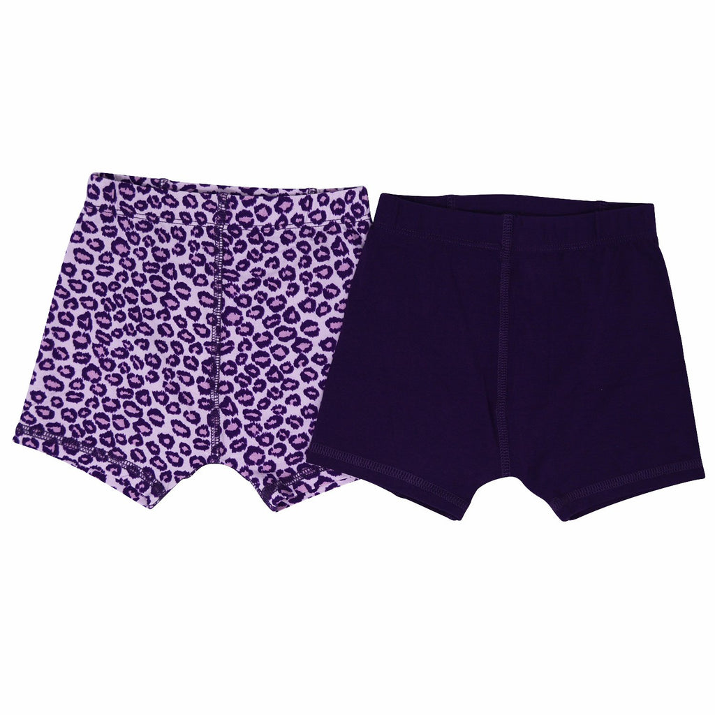 Underwear Brief Set - Leopard Purple/Royal Grape - Sweet Bamboo