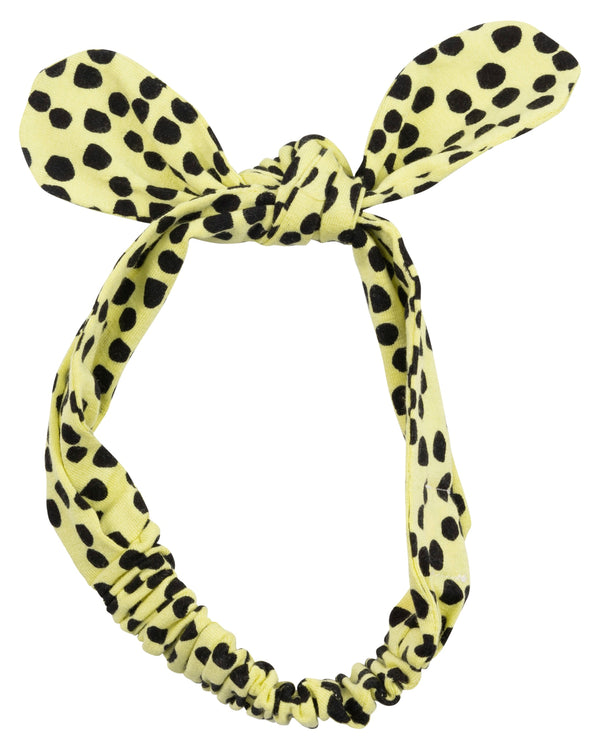 Molly Yellow Dot Headband