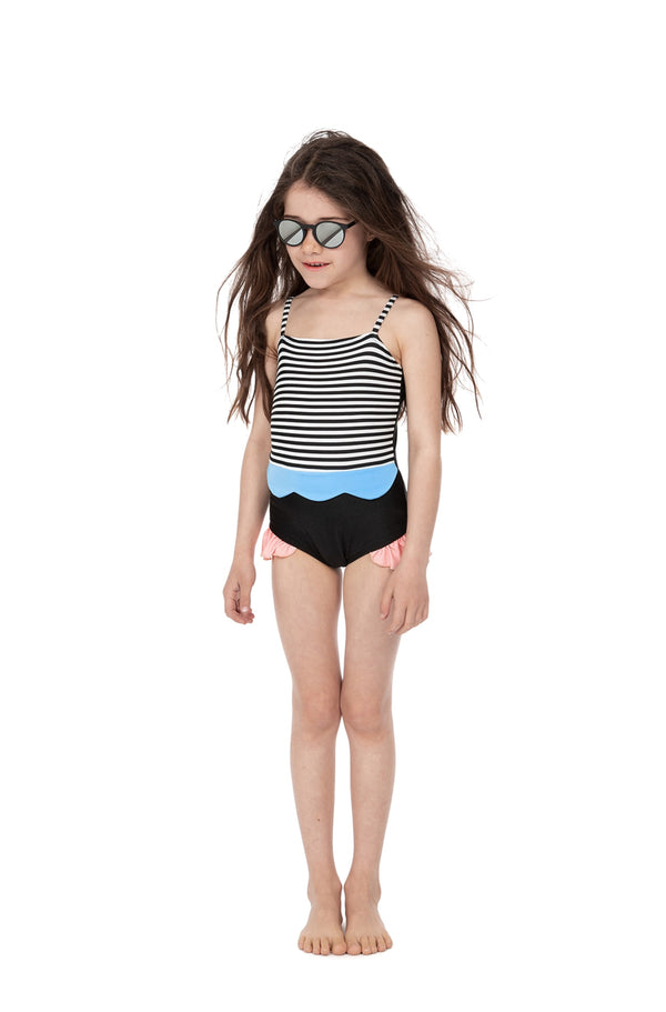 Maria Mermaide Striped swimsuit