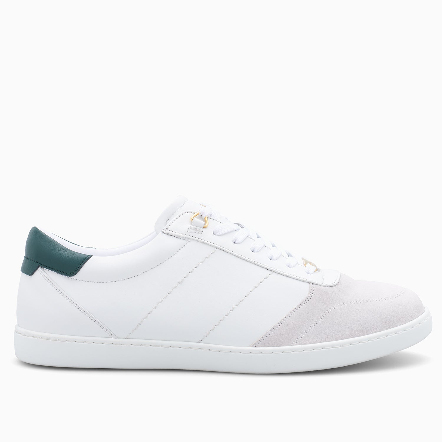 Green and white low top Buscemi sneaker