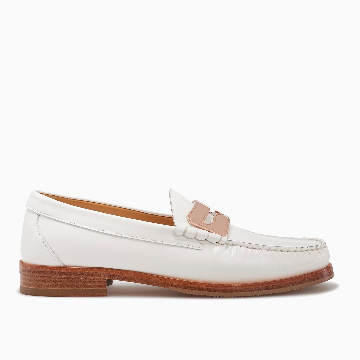 Town Loafer | Off White/Rose
