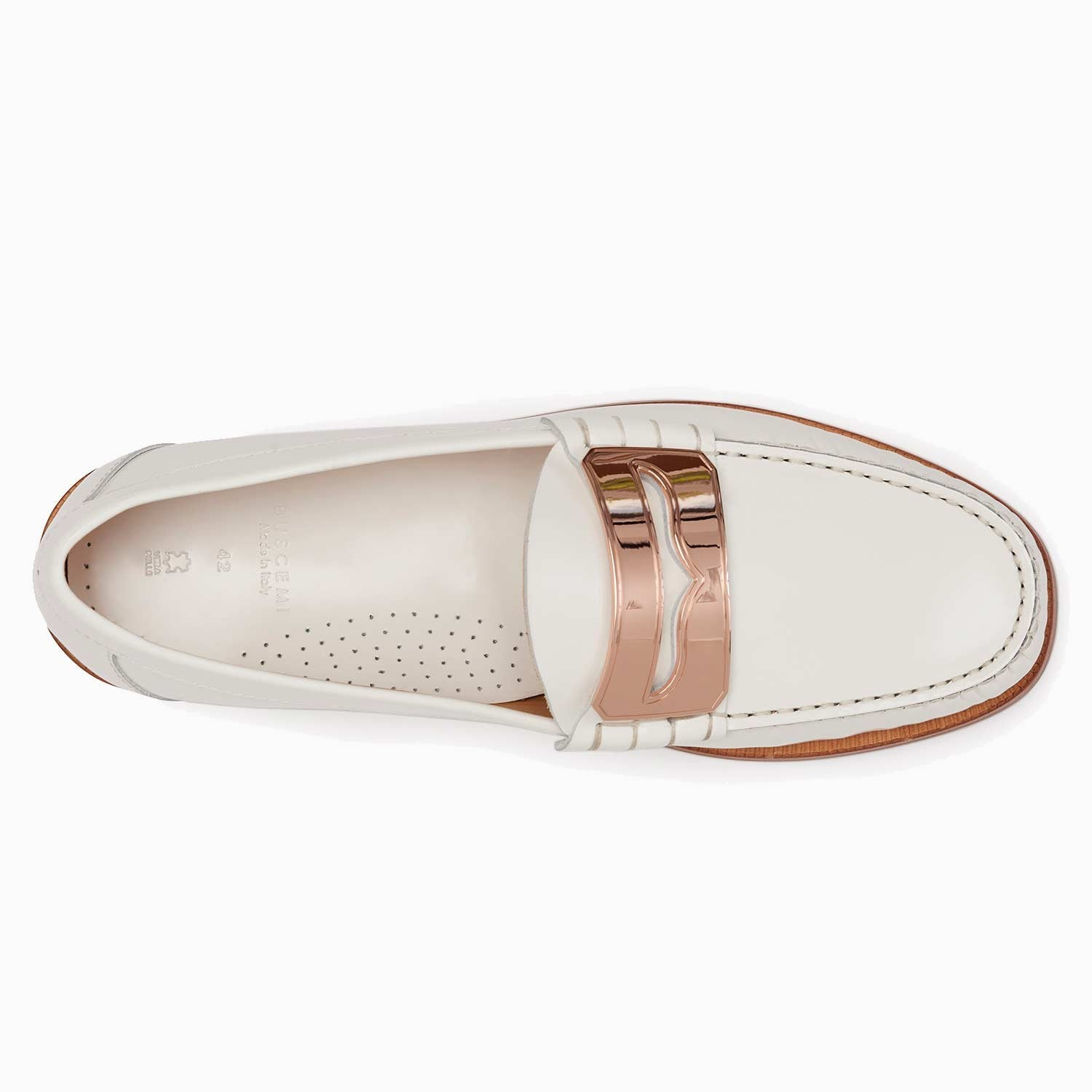 Town Loafer | Off White/Rose-Buscemi