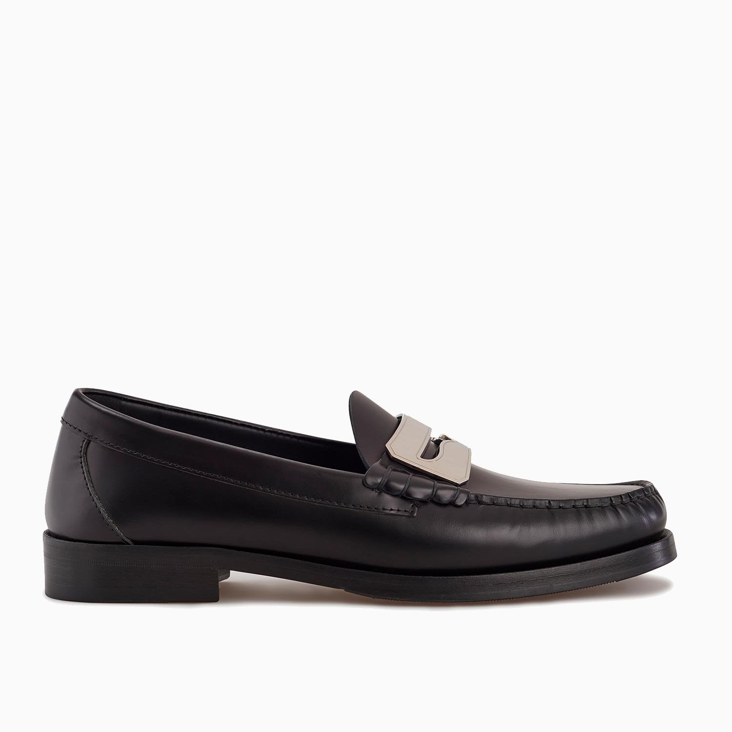Town Loafer | Black/Silver-Buscemi