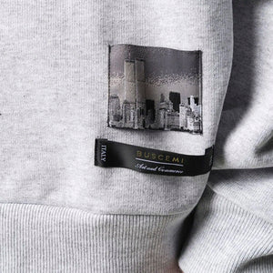Mismatch Crewneck | Grey-Buscemi