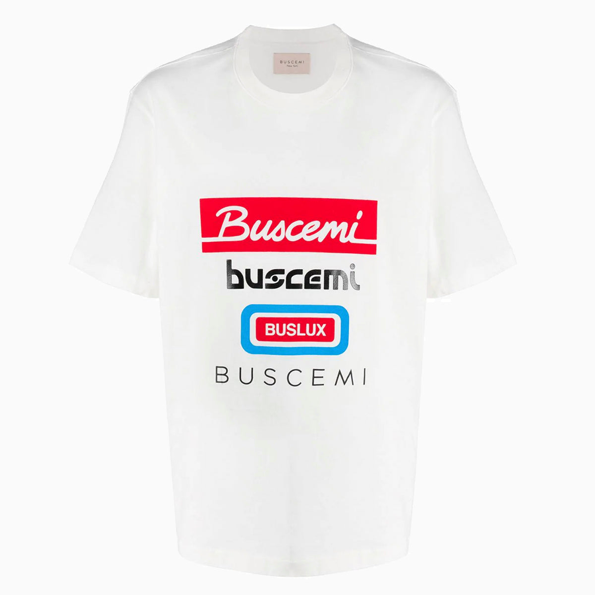 Multi Logo Regular T-Shirt | White-Buscemi