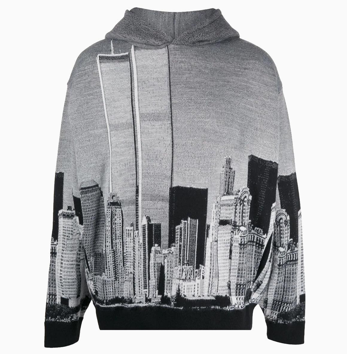 NYC Skyline Hoodie | Black-Grey