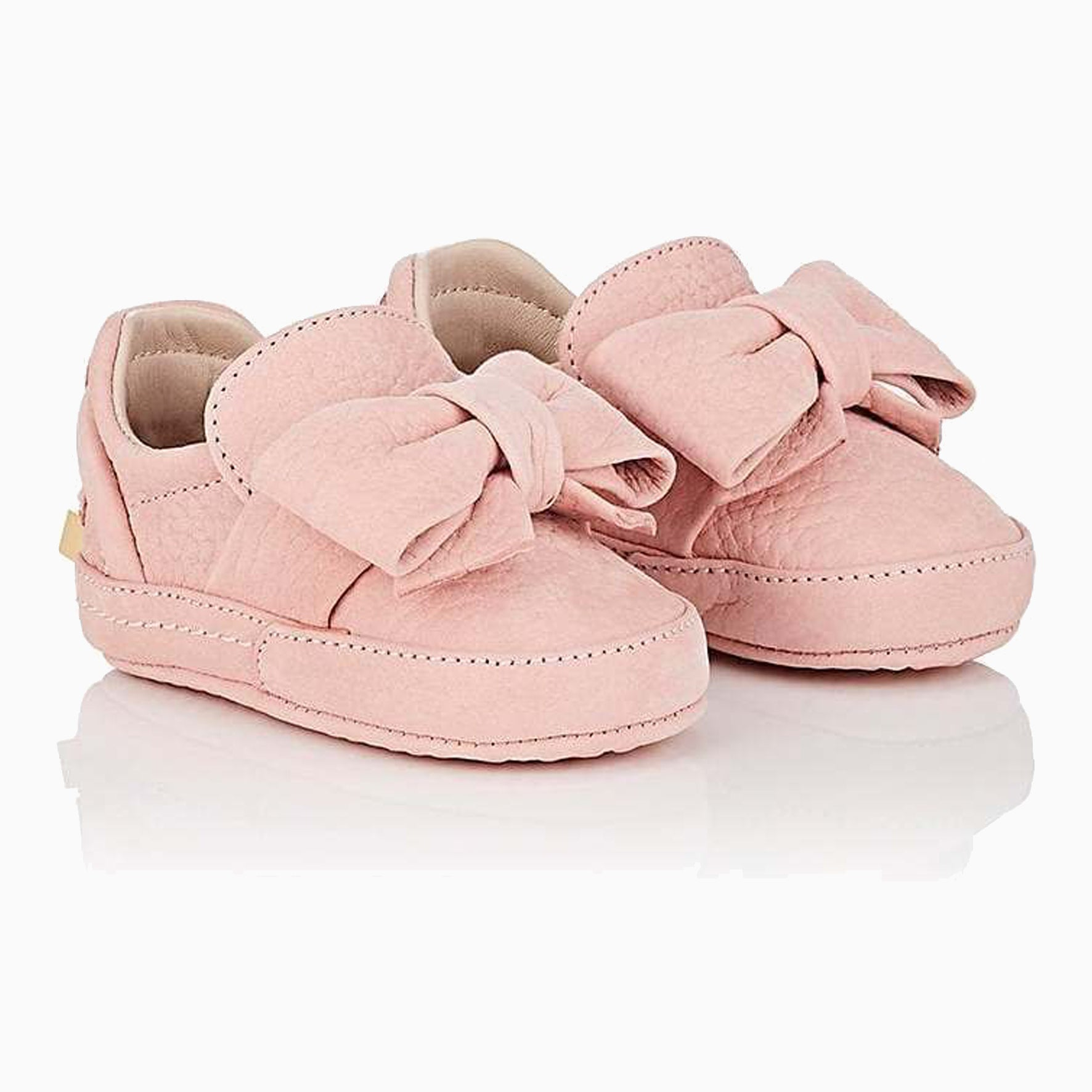 40MM Baby Bow Shoes | Pale Pink