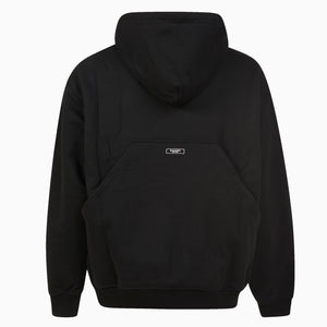 Embroidered Logo Hoodie | Black