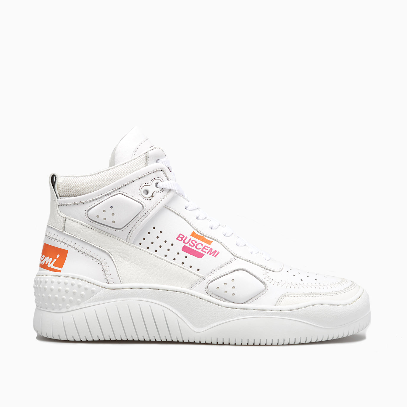 Women's Basket | White / Pink-Buscemi