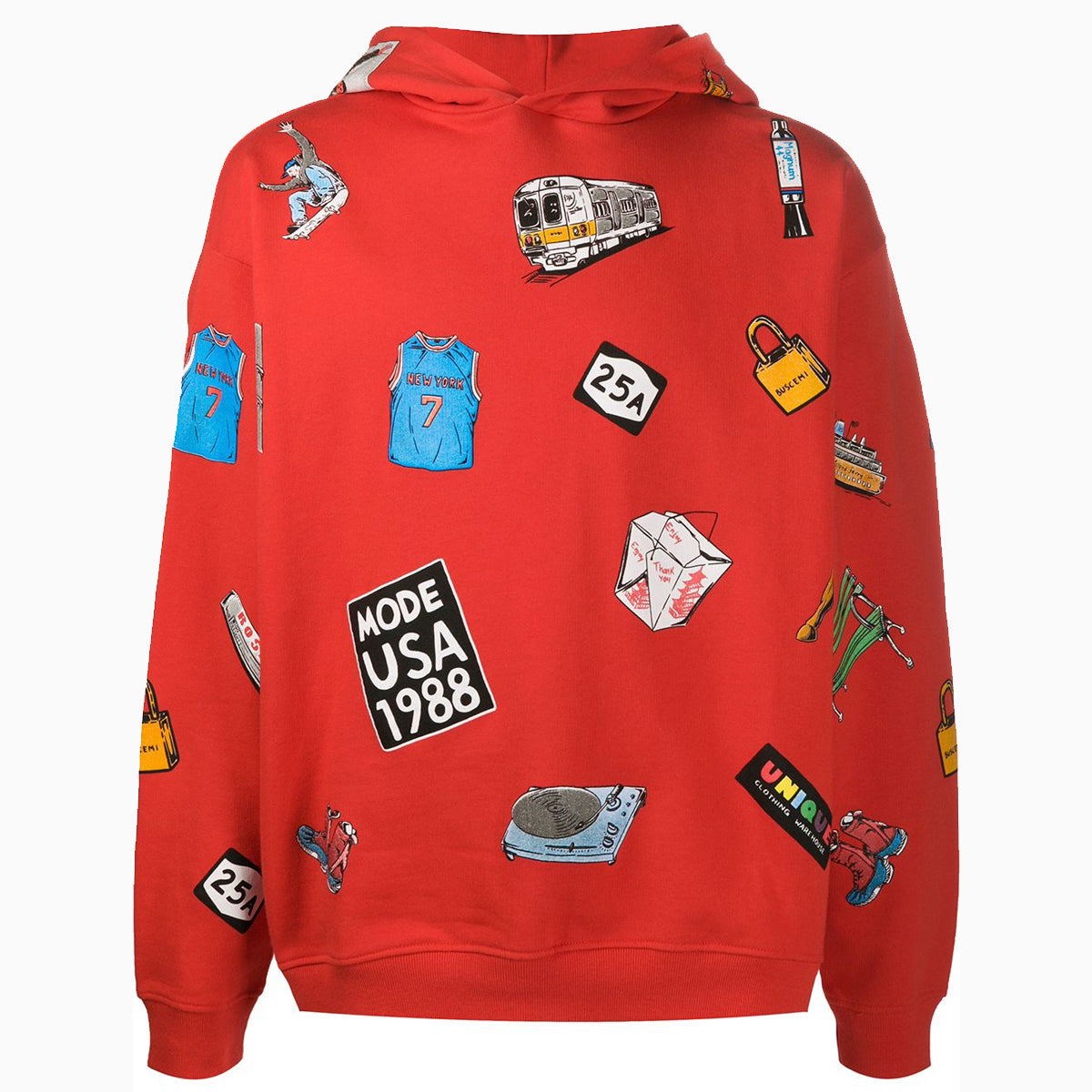 NY Icon Hoodie | Red-Buscemi