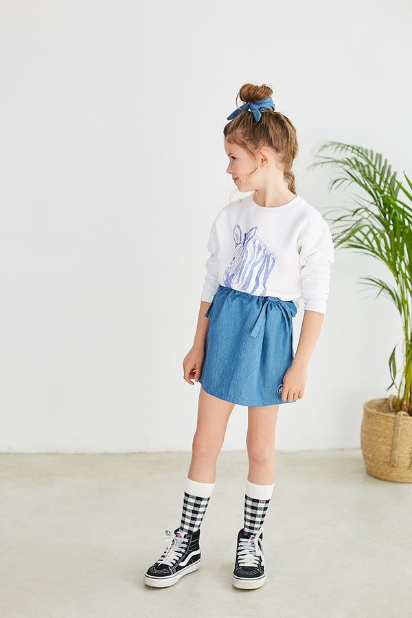 POSER SKIRT DENIM