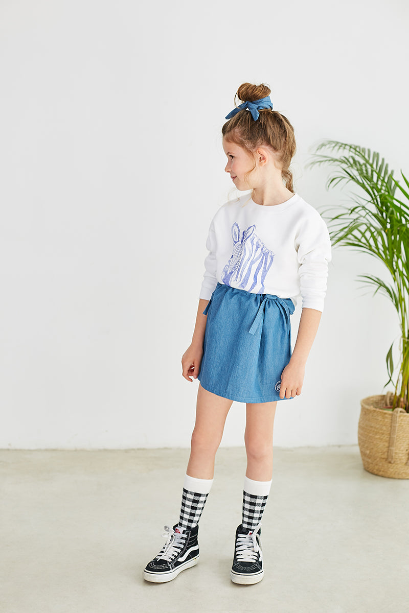 POSER DENIM SKIRT