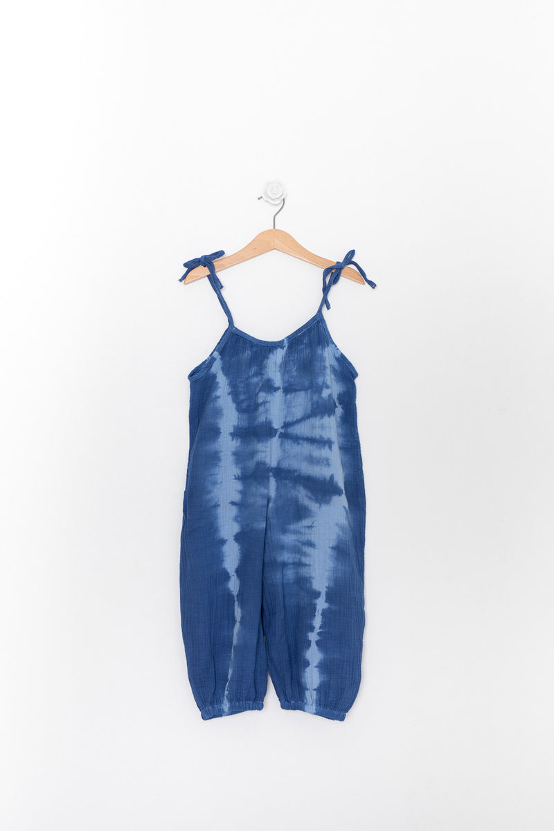 LONG JUMPSUIT TIE-DYE AZUL KID