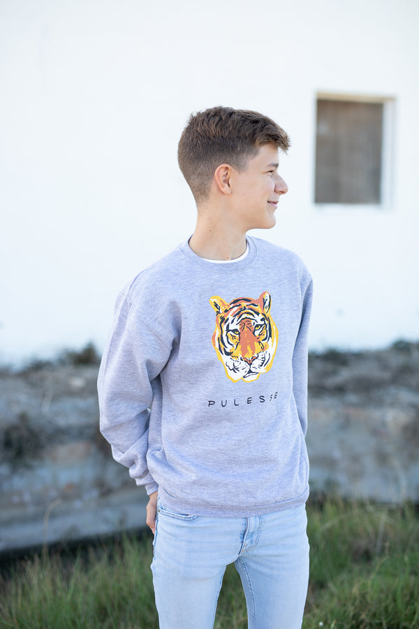 SUDADERA TIGER ADULT GRIS