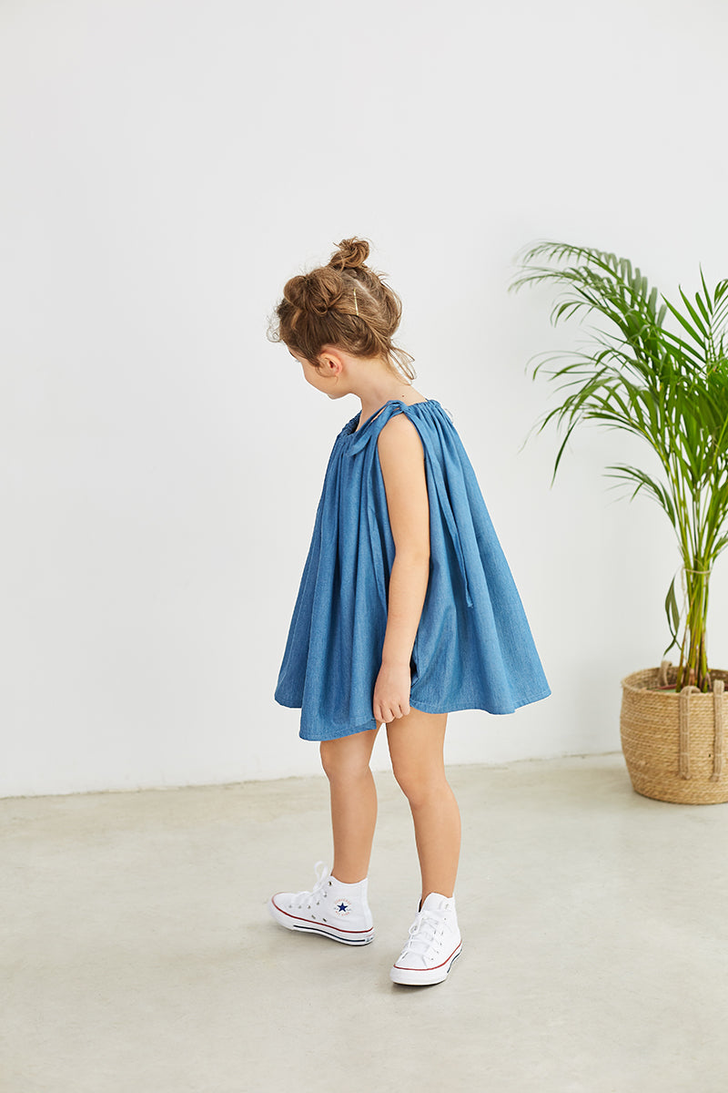 ROLLER DRESS DENIM KID