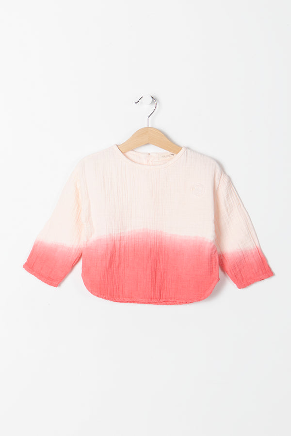 ROLLER SHIRT TIE DYE CORAL